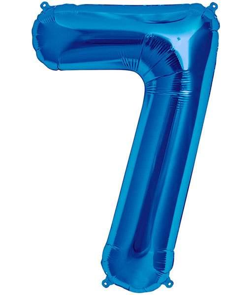 Τεράστιο Μπαλόνι 100 εκ Μπλε Αριθμός 7