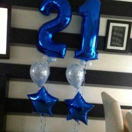 Τεράστιο Μπαλόνι 100 εκ Μπλε Αριθμός 8
