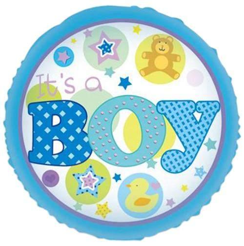 Μπαλόνι γέννησης Boy αρκουδάκι παπάκι 45 εκ