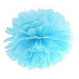 Γαλάζιο χάρτινο Pom Pom