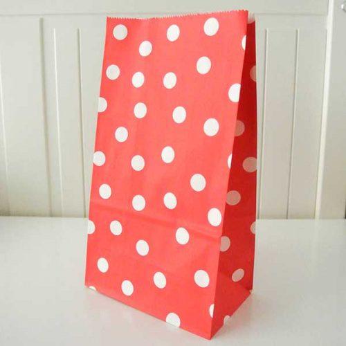 Κόκκινο πουά σακουλάκι για δώρο