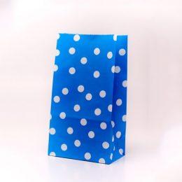 Μπλε πουά σακουλάκι για δώρο