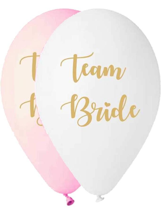 """12"""" Μπαλόνι τυπωμένο μπάτσελορ Team Bride"""