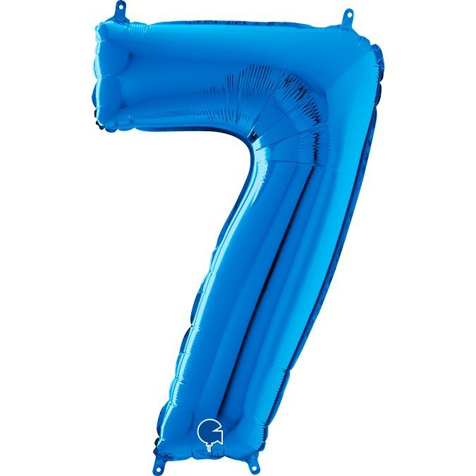 Μπαλόνι 100 εκ Μπλε Αριθμός 7