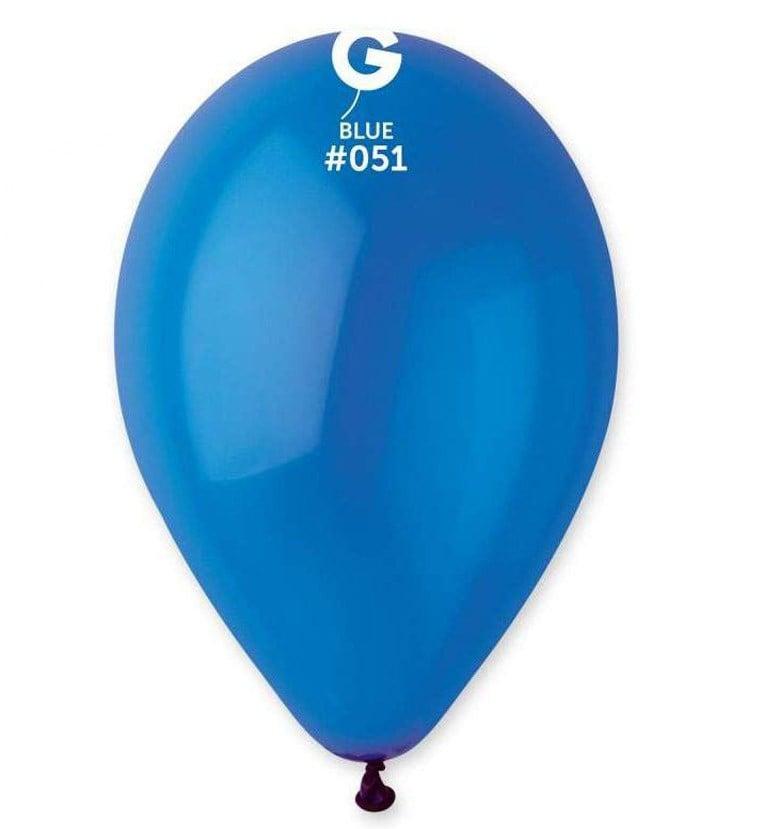 13″ Crystal Μπλε λάτεξ μπαλόνι