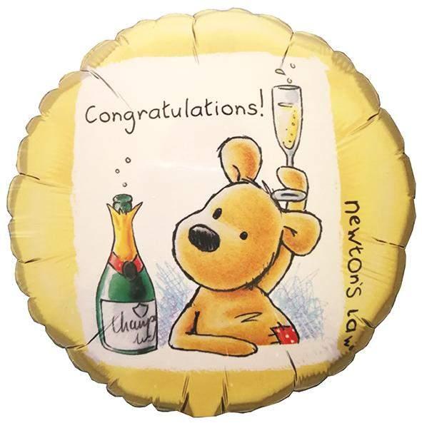 Μπαλόνι αποφοίτησης Congratulations αρκουδάκι 45 εκ