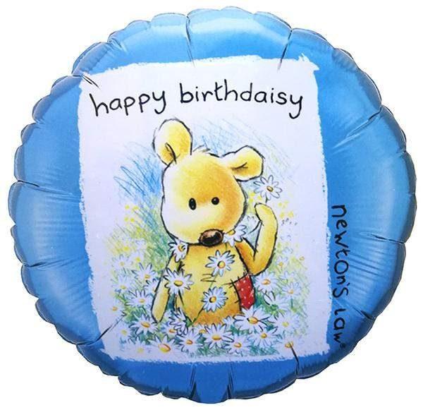 Μπαλόνι Happy Birthdaisy με αρκουδάκι 45 εκ