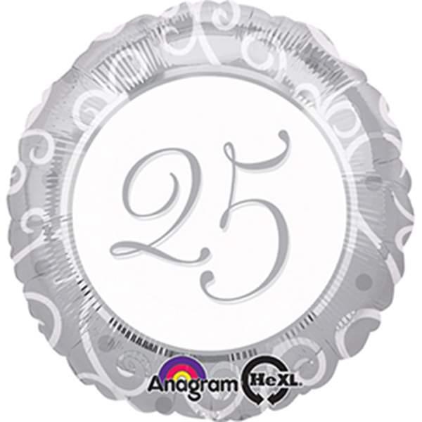Μπαλόνι αριθμός 25 για γενέθλια 45 εκ