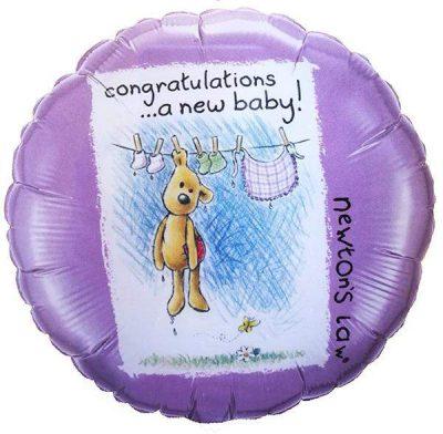 Μπαλόνι Congrats New Baby αρκουδάκι 45 εκ