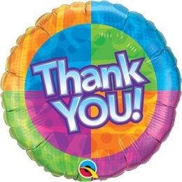 Μπαλόνι Thank You πολύχρωμο45εκ