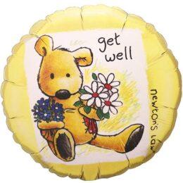 Μπαλόνι Get Well με αρκουδάκι 45εκ