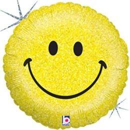 Μπαλόνι Smile Face που ιριδίζει45εκ