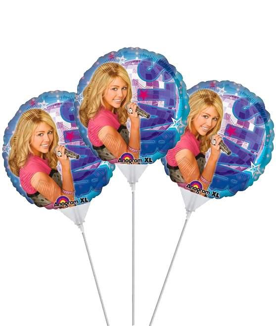 Μπαλόνι με καλαμάκι Hannah Montana (3 τεμ)