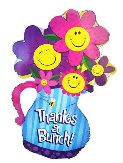 Μπαλόνι βάζο με λουλούδια Thanks 94 εκ