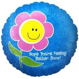 """Μπαλόνι Λουλούδι """"Hope youre feeling better"""""""