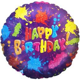 Μπαλόνι Happy Birthday πιτσιλιές 45 εκ
