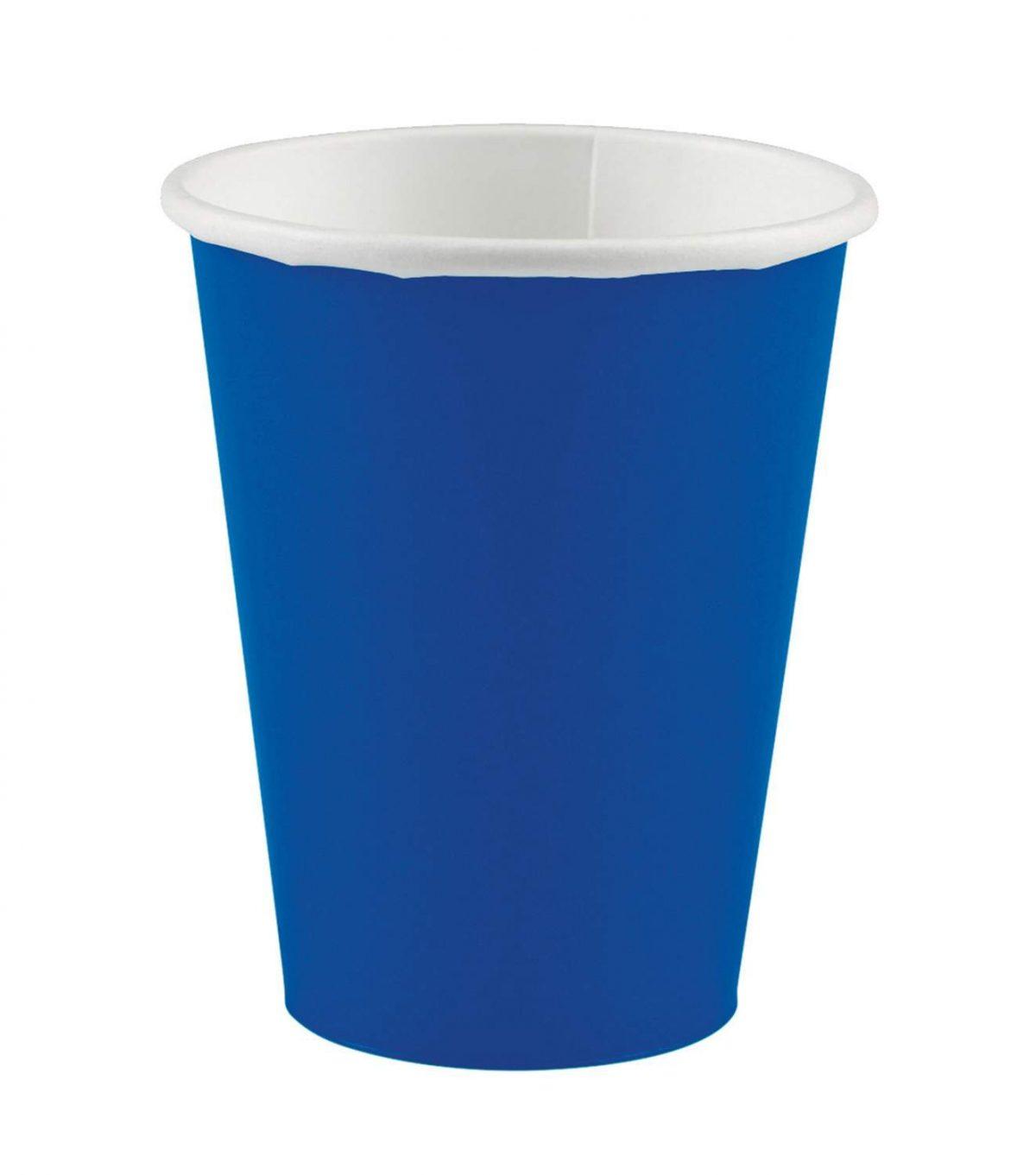 Ποτήρια πάρτυ μπλε ρουά (20 τεμ)