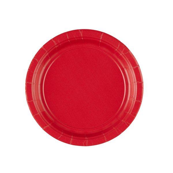Πιάτα πάρτυ μικρά κόκκινα (8 τεμ)