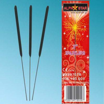 """7"""" Ιριδίζοντα Sticks Sparklers (10 τεμ)"""