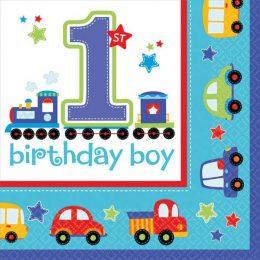 """Χαρτοπετσέτες """"1st Birthday Boy"""" (16 τεμ)"""