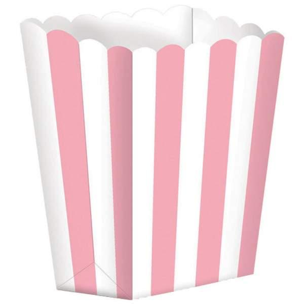 Κουτί Ποπ Κορν Ροζ με Ρίγες