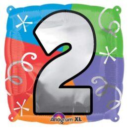 Μπαλόνι τετράγωνο νο 2 για γενέθλια