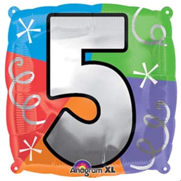Μπαλόνι τετράγωνο νο 5 για γενέθλια