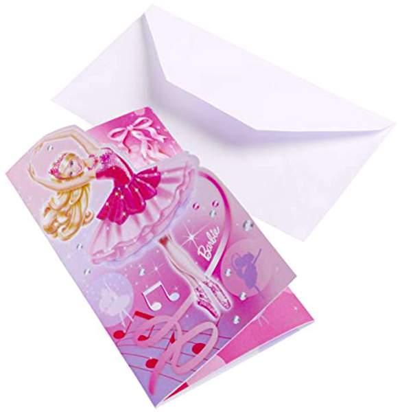Προσκλήσεις Barbie μπαλαρίνα (6 τεμ)