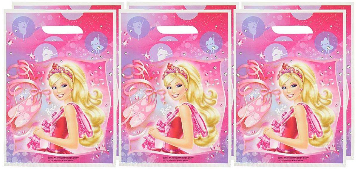 Τσαντούλες για δωράκια Barbie μπαλαρίνα (6 τεμ)