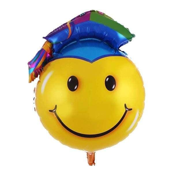 Μπαλόνι αποφοίτησης φάτσα με καπέλο 72 εκ