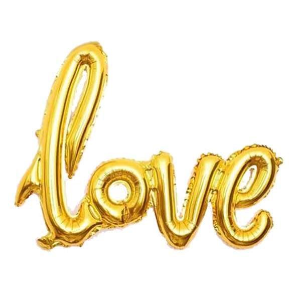 Μπαλόνι αγάπης Love Χρυσό 68 εκ