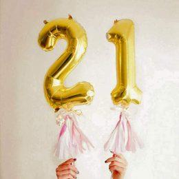 Μπαλόνι 40 εκ Χρυσό Αριθμός 1