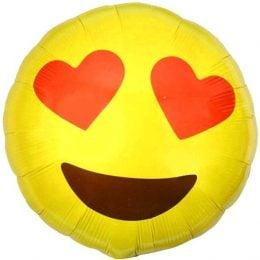 Μπαλόνι emoji καρδούλες 45 εκ