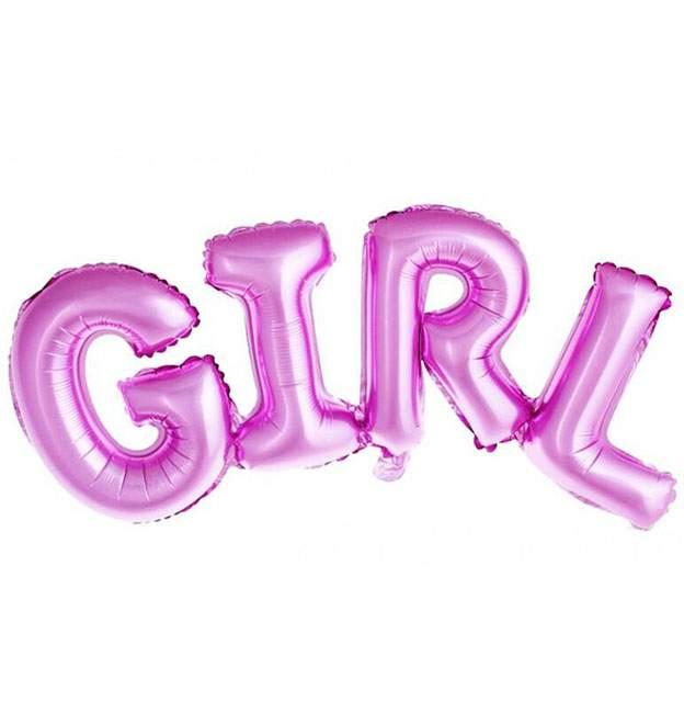 Μπαλόνι φράση ροζ GIRL 106 εκ