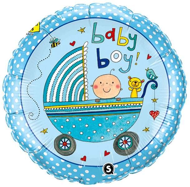 Μπαλόνι γέννησης Baby Boy καροτσάκι 45 εκ