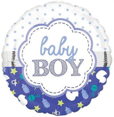 Μπαλόνι γέννησης Baby Boy Μπλε ρουά 45 εκ