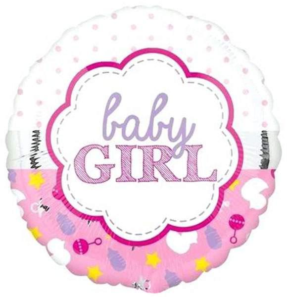 Μπαλόνι γέννησης Baby Girl Ροζ απαλό 45 εκ