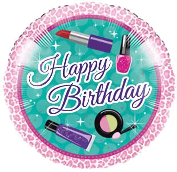 Μπαλόνι Happy Birthday καλλυντικά 45 εκ