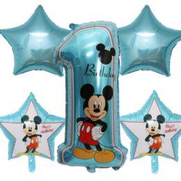 Σετ μπαλονιών 1st Birthday Mickey Mouse (5 τεμ)