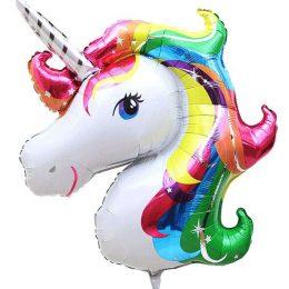 Μπαλόνι κεφάλι Μονόκερου rainbow 114 εκ