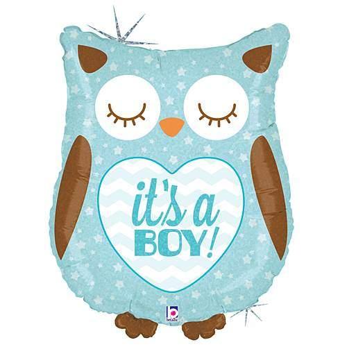 Μπαλόνι γέννησης Its a boy κουκουβάγια 45 εκ