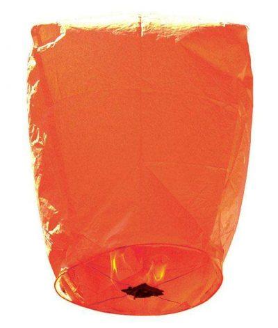 Χάρτινο Ιπτάμενο φαναράκι πορτοκαλί