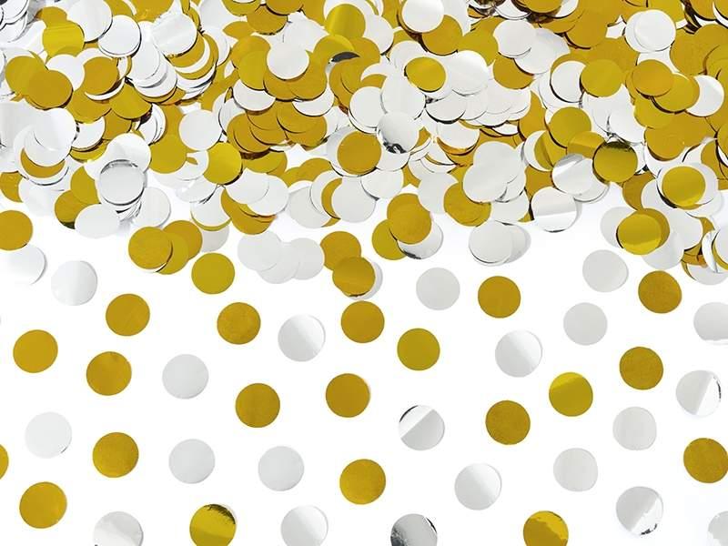 Κανονάκι Χρυσά & Ασημί μεταλλικά κομφετί