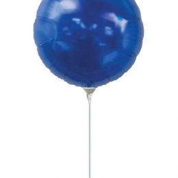 Μπαλόνι με καλαμάκι μπλε στρογγυλό 29 εκ