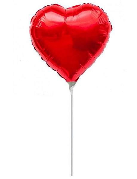 Μπαλόνι με καλαμάκι κόκκινη καρδούλα 29 εκ