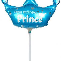Μπαλόνι με καλαμάκι Happy Birthday Prince 42 εκ