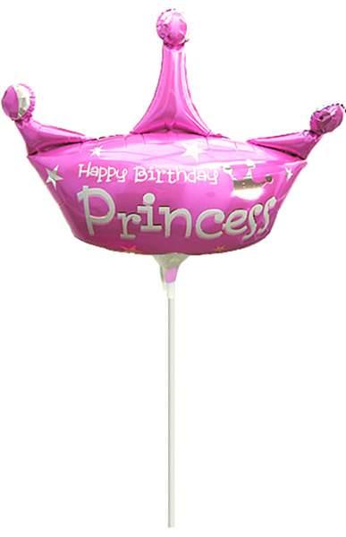 Μπαλόνι με καλαμάκι Happy Birthday Princess 42 εκ