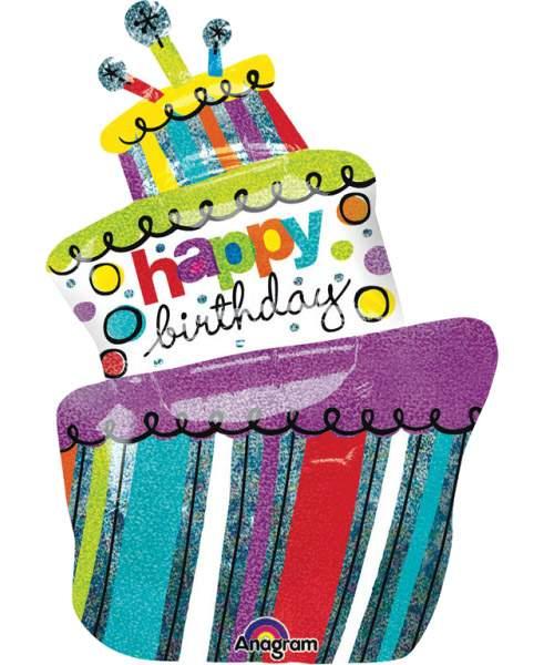 Μπαλόνι για γενέθλια funky τούρτα 94 εκ
