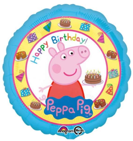 Μπαλόνι Peppa Pig Happy Birthday 45 εκ
