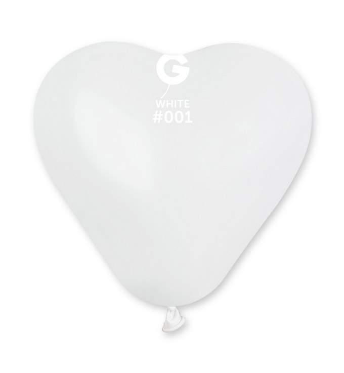"""6"""" Μπαλόνι καρδιά λευκή"""